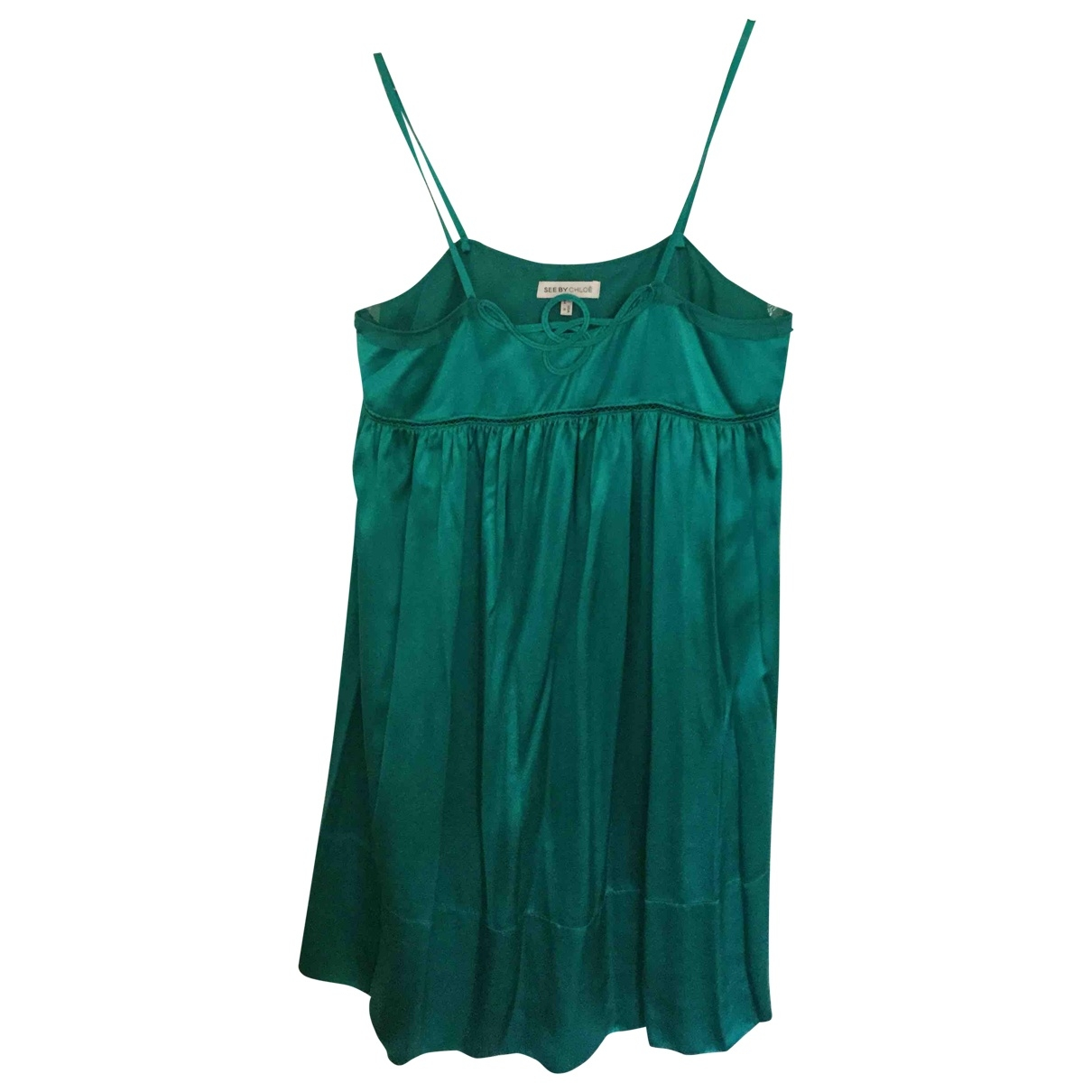 See By Chloé \N Green Silk dress for Women 38 FR