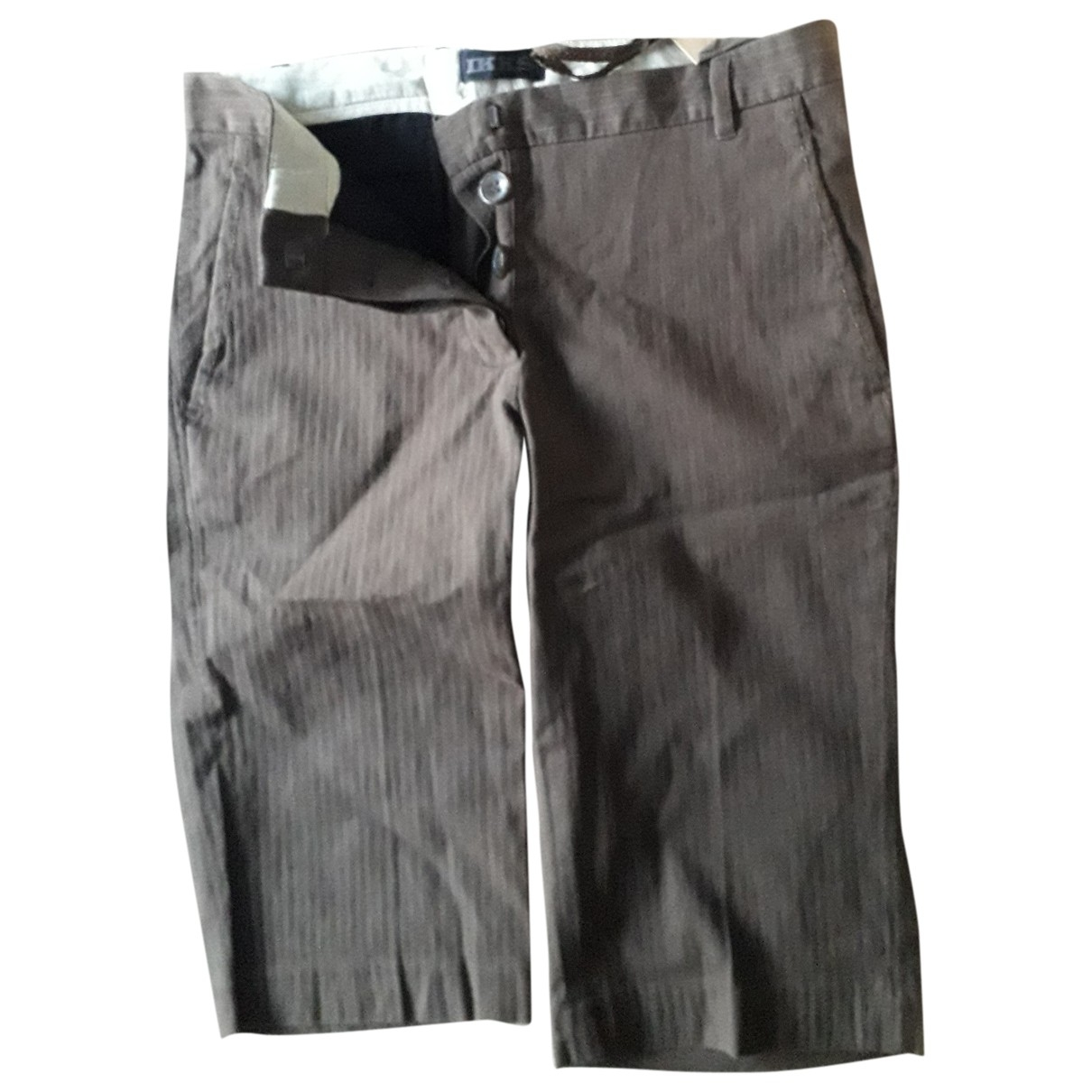 Ikks \N Brown Cotton Trousers for Women 34 FR