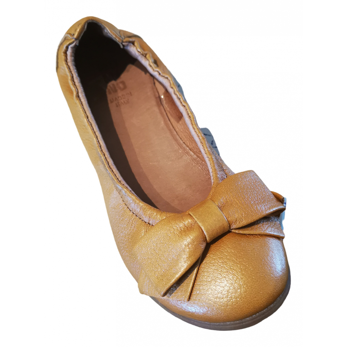 Moma \N Camel Leather Ballet flats for Kids 29 FR