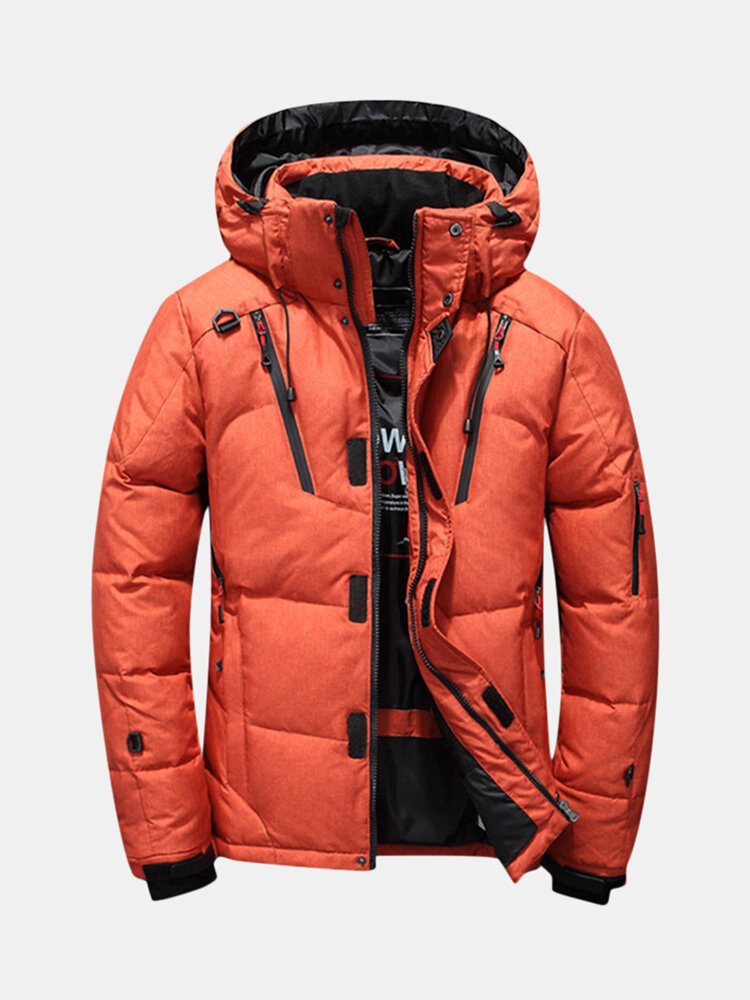 Men's Winter Thick Down Parka Jacket Quilted Insulated Down Parka Coats