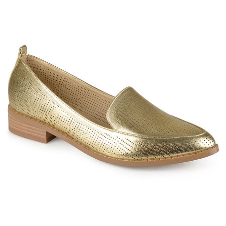 Journee Collection Womens Brooky Loafers, 5 1/2 Medium, Yellow