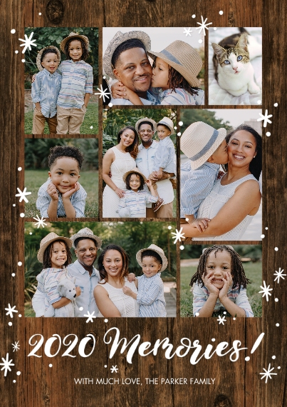 Christmas Photo Cards 5x7 Cards, Premium Cardstock 120lb with Elegant Corners, Card & Stationery -2020 Gold Memories by Tumbalina