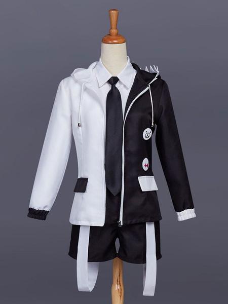Milanoo Danganronpa Monokuma Cosplay Costume Boys Version Halloween