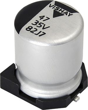 Vishay 220μF Hybrid Capacitor 25V dc, Surface Mount - MAL218297604E3 (500)