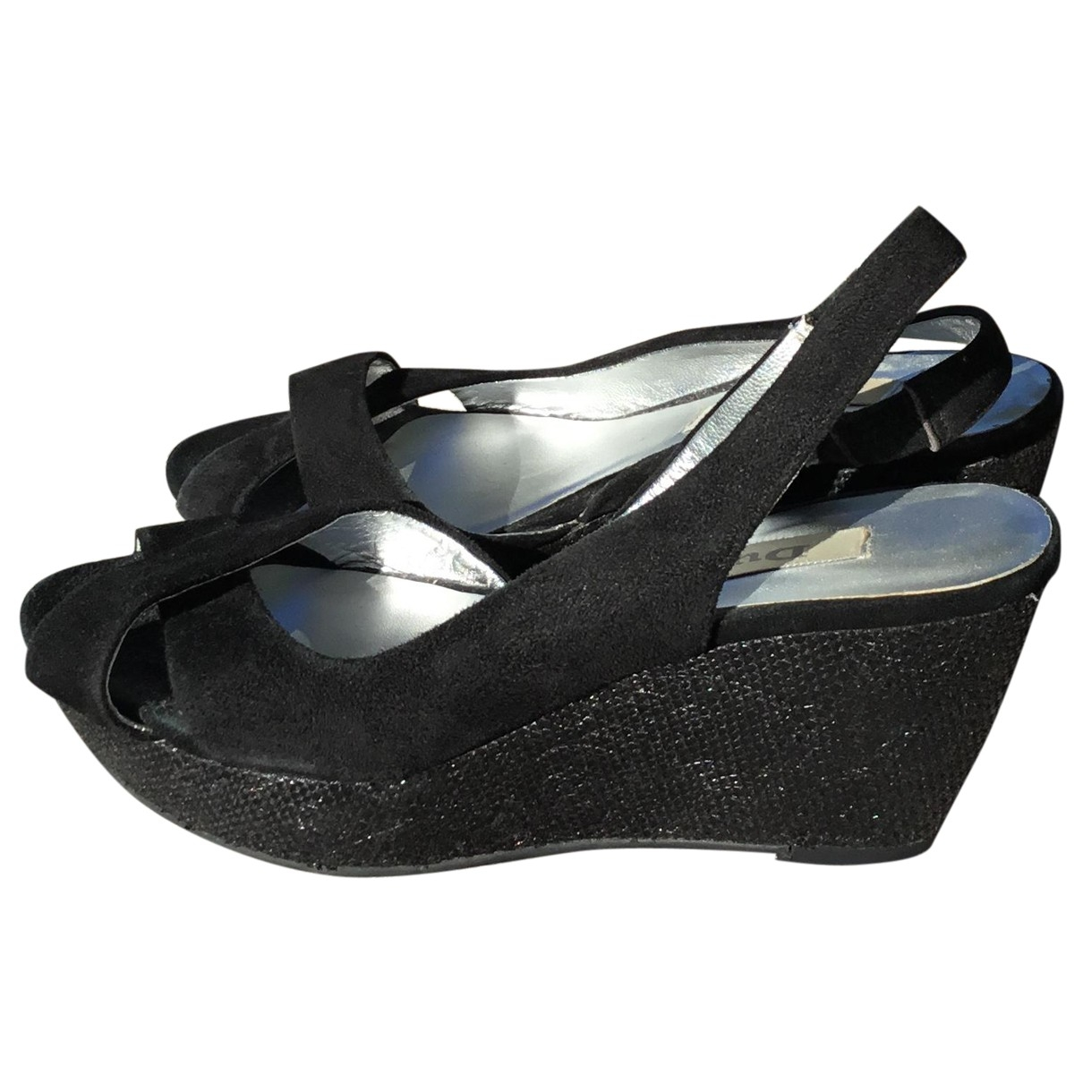 Dune \N Black Suede Sandals for Women 37 EU