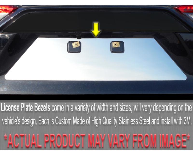QAA Stainless License Plate Bezel 1Pc 2006-2011 Lincoln MKZ