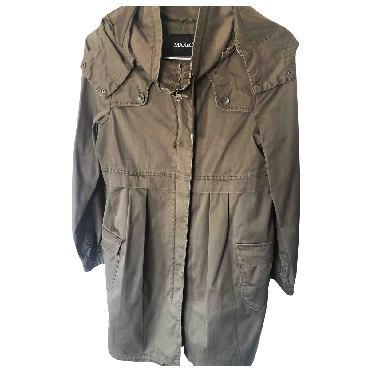 Max & Co \N Green Cotton jacket for Women 38 IT