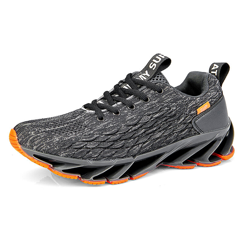 Men Knitted Fabric Breathable Sports Casual Running Sneakers