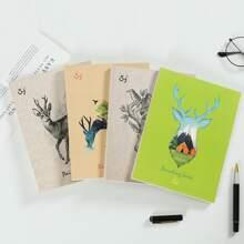 1pack Random Deer Print Painting Book