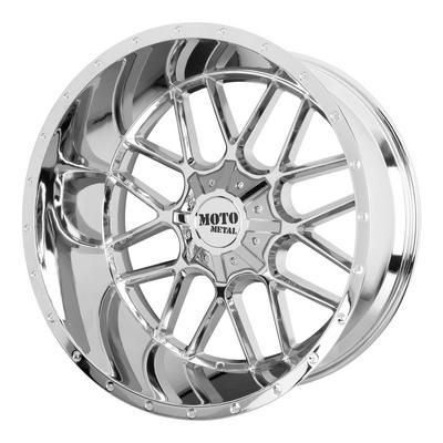 Moto Metal MO986 Siege, 20x9 Wheel with 6x120/6x5.5 Bolt Pattern - Chrome - MO98629078200