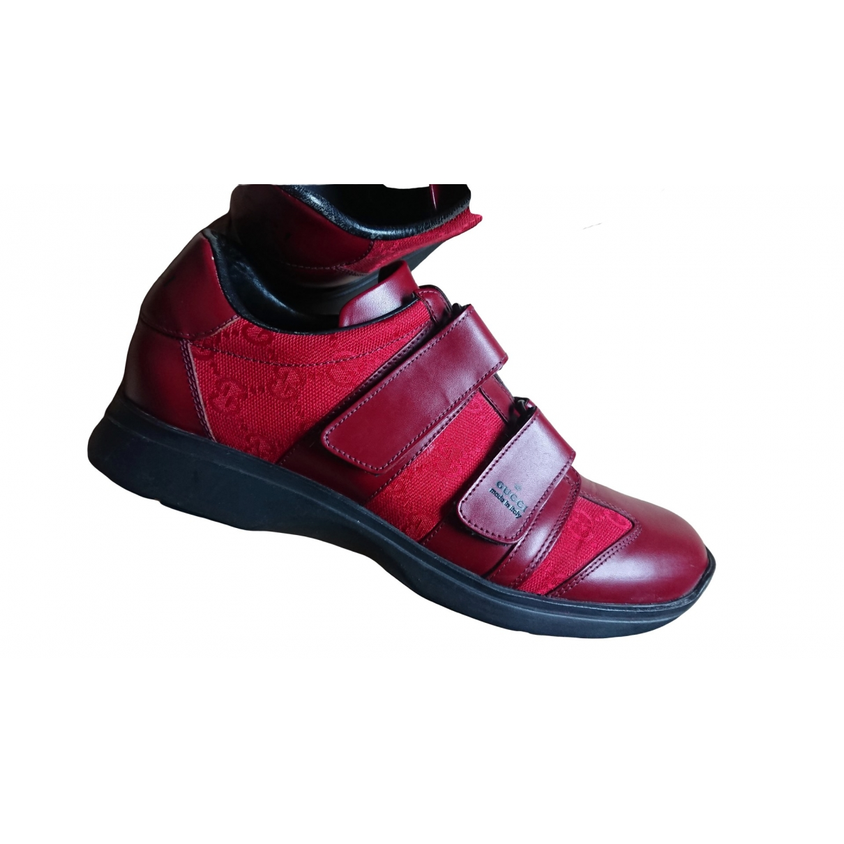 Gucci \N Burgundy Leather Trainers for Women 38 EU