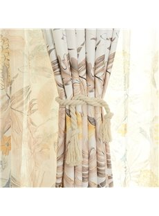 Breathable and Decorative Vivid Printed Pastoral Style Beautiful Shading Sheer Curtain