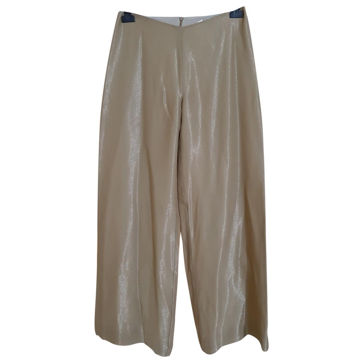 Gianfranco Ferré \N Gold Trousers for Women 44 IT