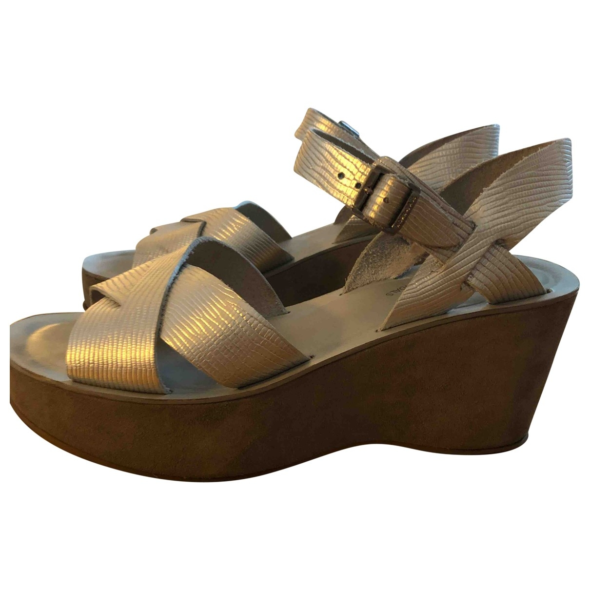 Kork Ease \N Silver Leather Sandals for Women 40 EU