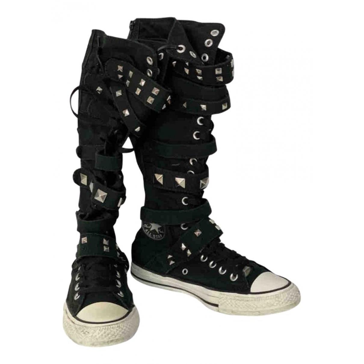 Converse \N Black Cloth Boots for Women 40 EU