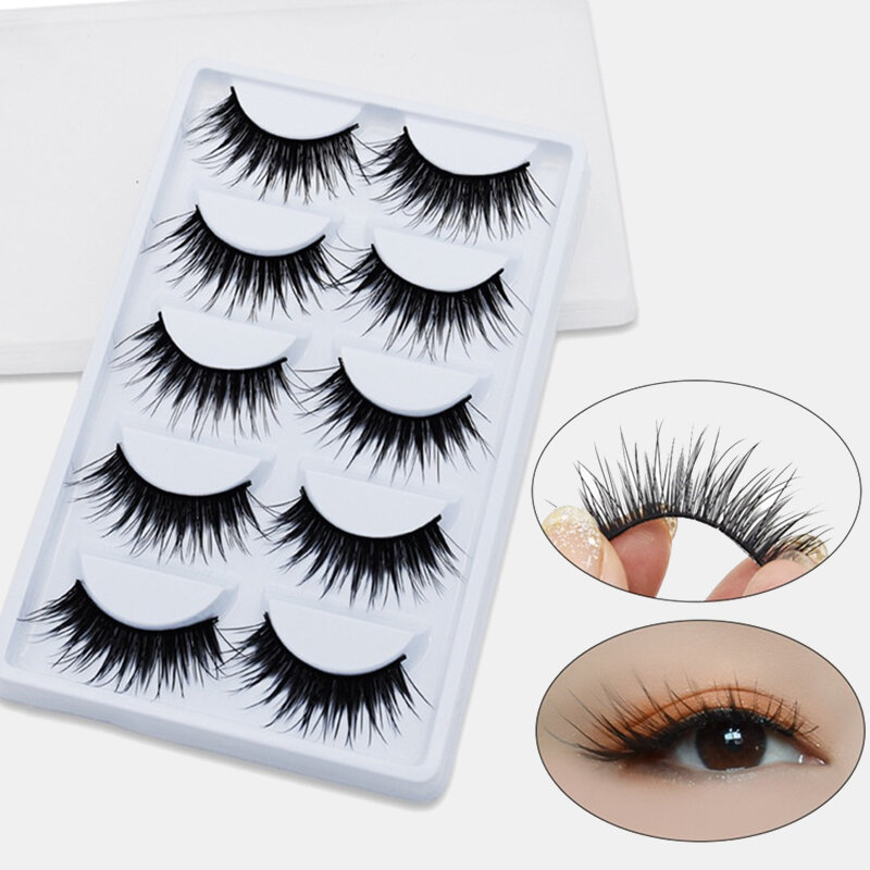 3D False Eyelashes Natural Wispy Fluffy Handmade Eyelashes Volume Fake Lashes