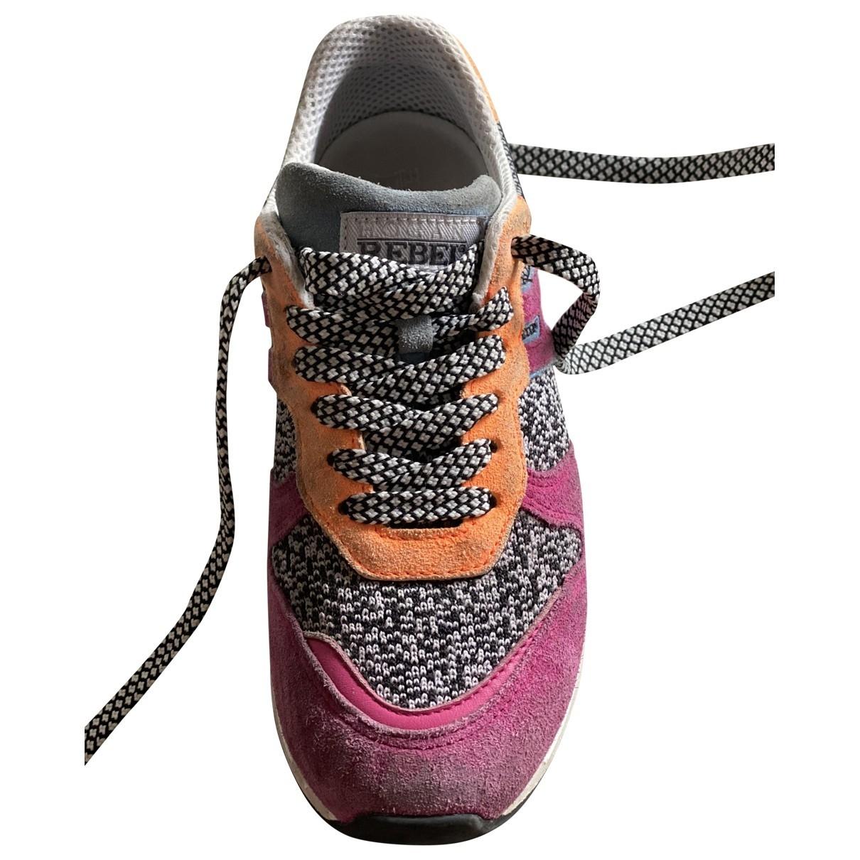 Hogan \N Multicolour Suede Lace up boots for Kids 34 EU