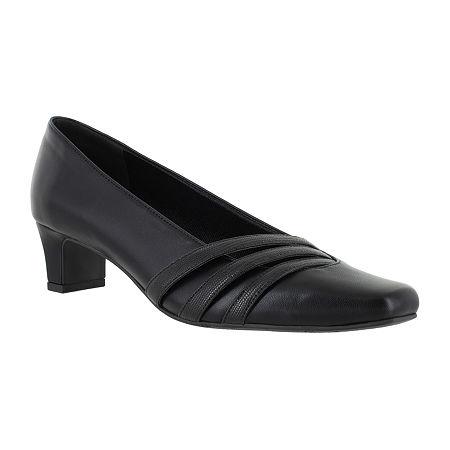 Easy Street Womens Entice Pumps Spike Heel, 6 Medium, Black