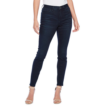Bold Elements Fit Solution Womens Mid Rise Skinny Fit Jean, 2 , Blue