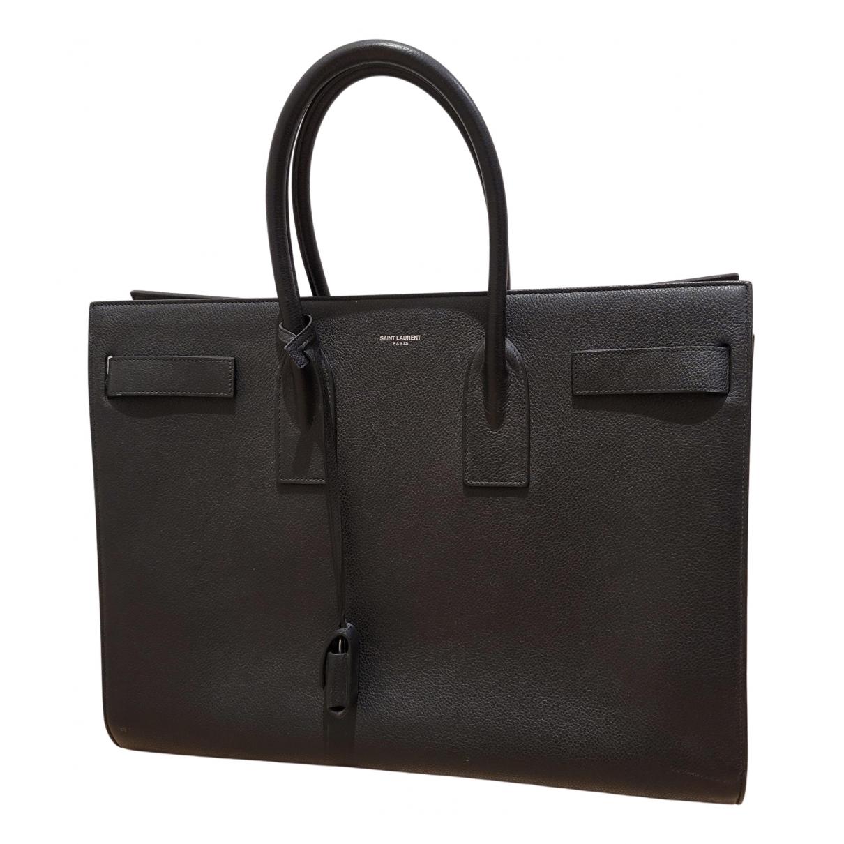 Saint Laurent Sac de Jour  Black Leather bag for Men \N
