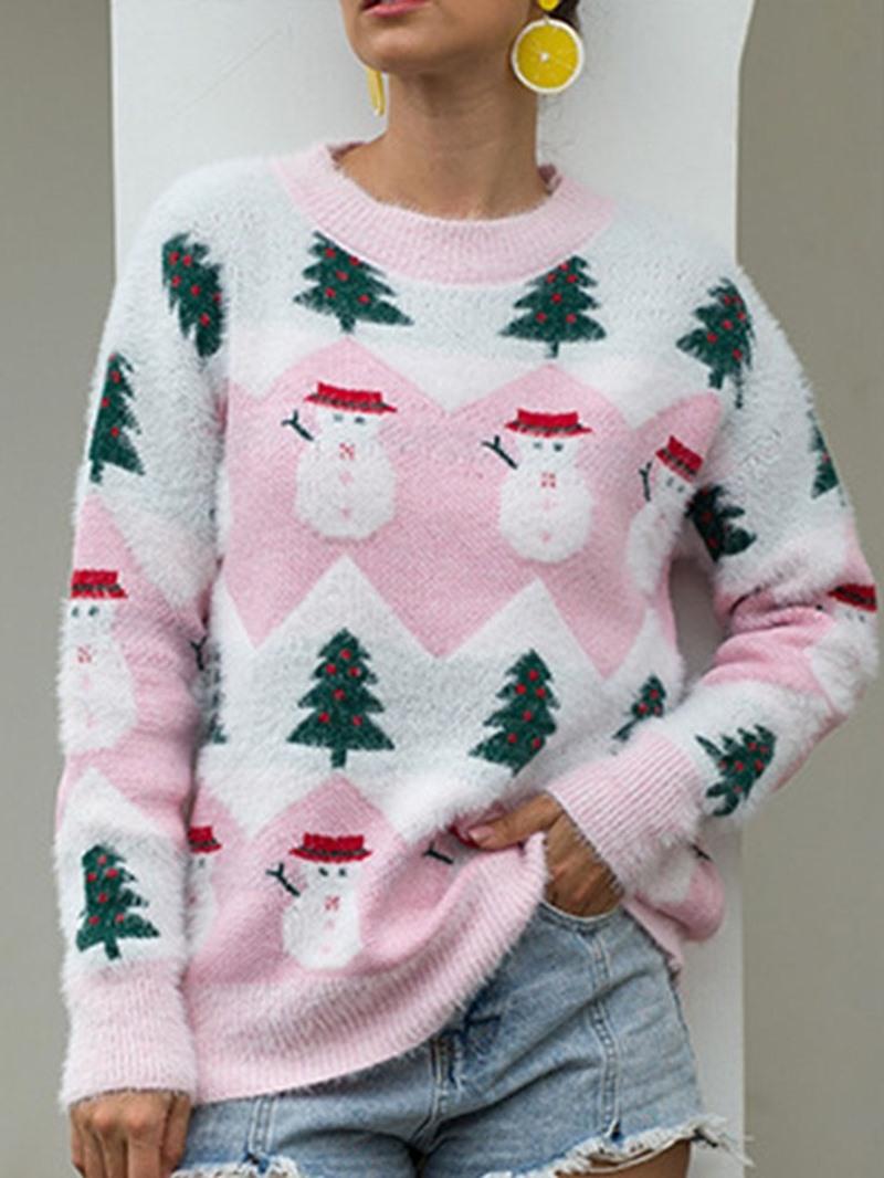 Ericdress Christmas Tree Thin Regular Long Sleeve Standard Sweater