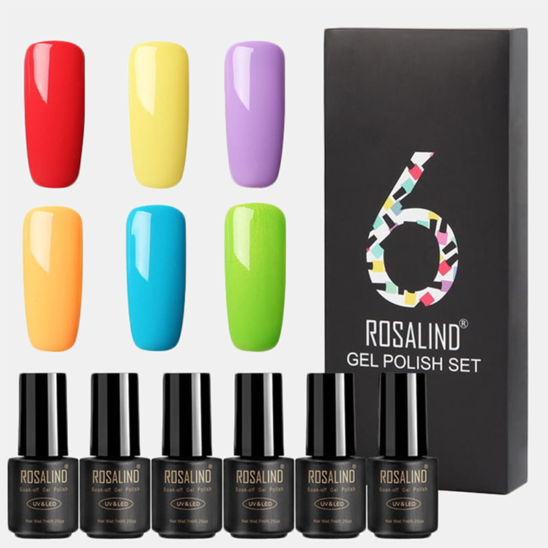 6Pcs/Kit Nail Polish Gel Kit Color Nail Extension Nail Gel Varnishes Manicure Base Kit