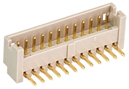 Hirose , DF13, 14 Way, 1 Row, Right Angle PCB Header (5)