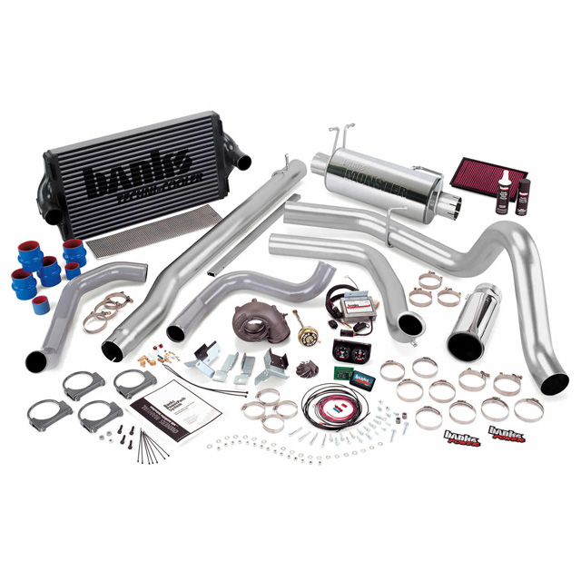 PowerPack Bundle Complete Power System W/Single Exit Exhaust Chrome Tip 99.5-03 Ford 7.3L F450/F550 Automatic Transmission Banks Power 47461