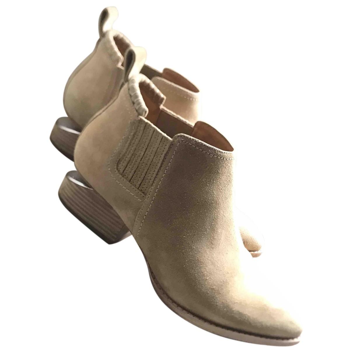 Alexander Wang Kori Beige Suede Ankle boots for Women 38 EU