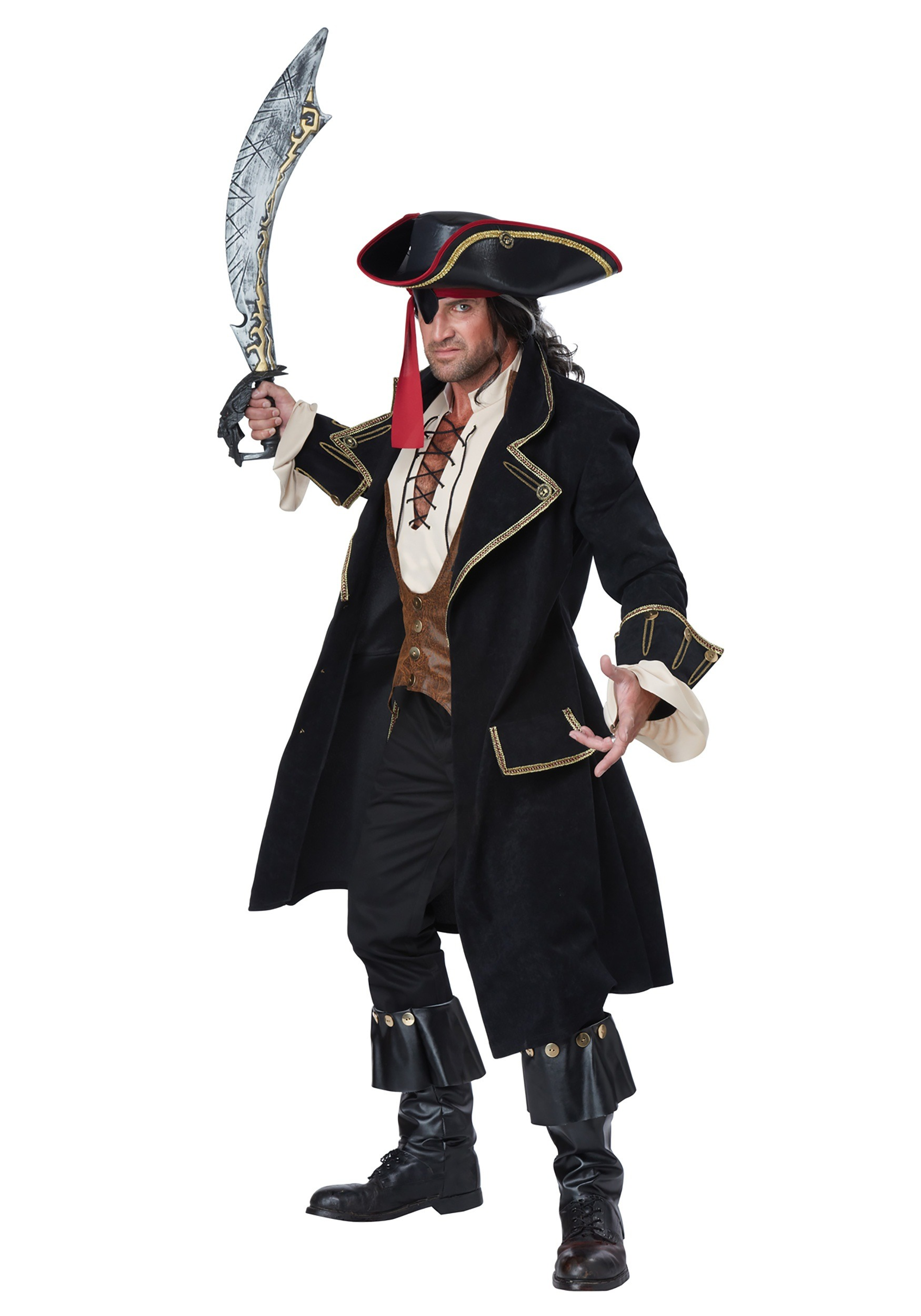 Men's Deluxe Pirate Captain Costume