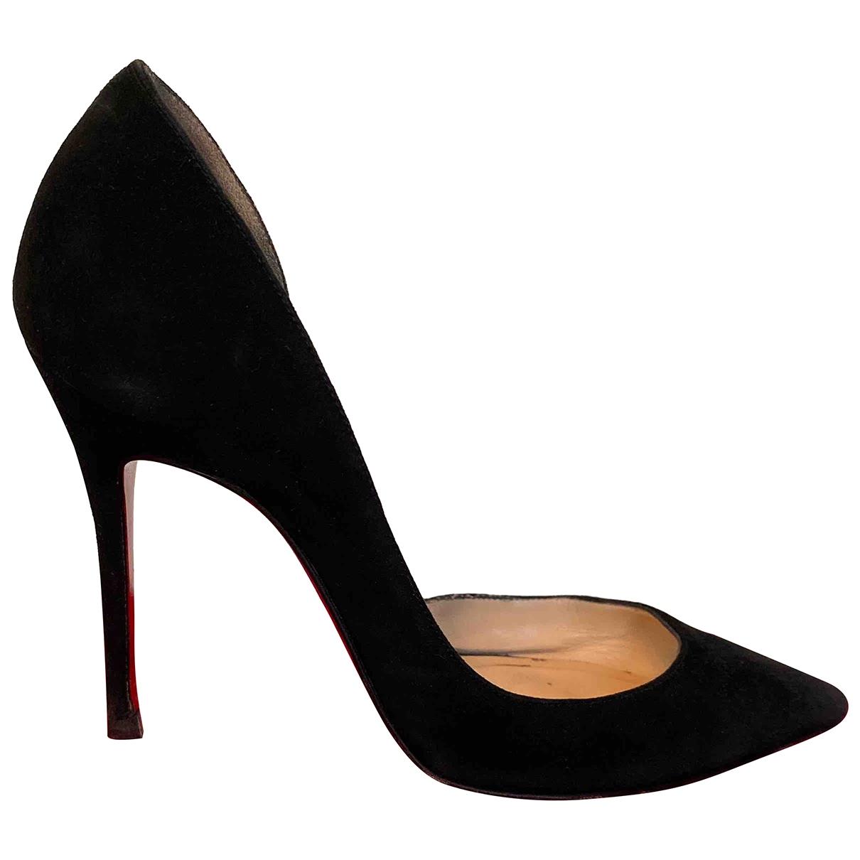 Christian Louboutin Iriza Black Suede Heels for Women 36 EU