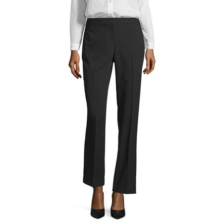 Liz Claiborne Classic Fit Audra Straight Leg Trousers, 14 Long , Black