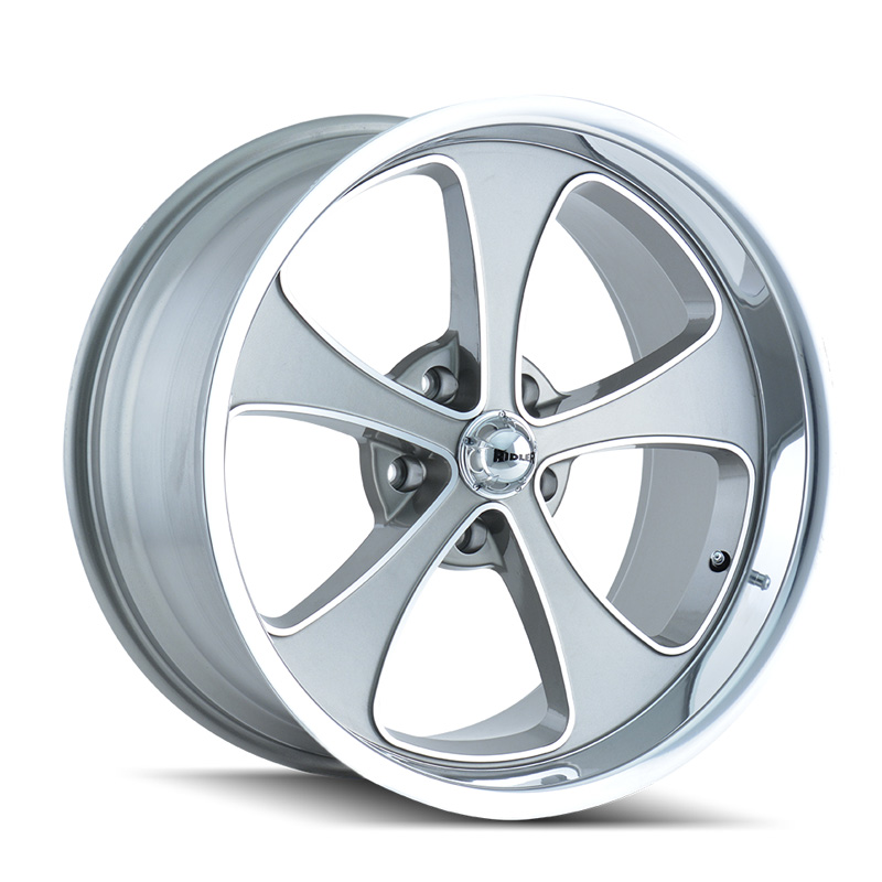 Ridler 645 Grey | Machined Face | Polished Lip 20x10 5x114.3 0mm 83.82mm Wheel