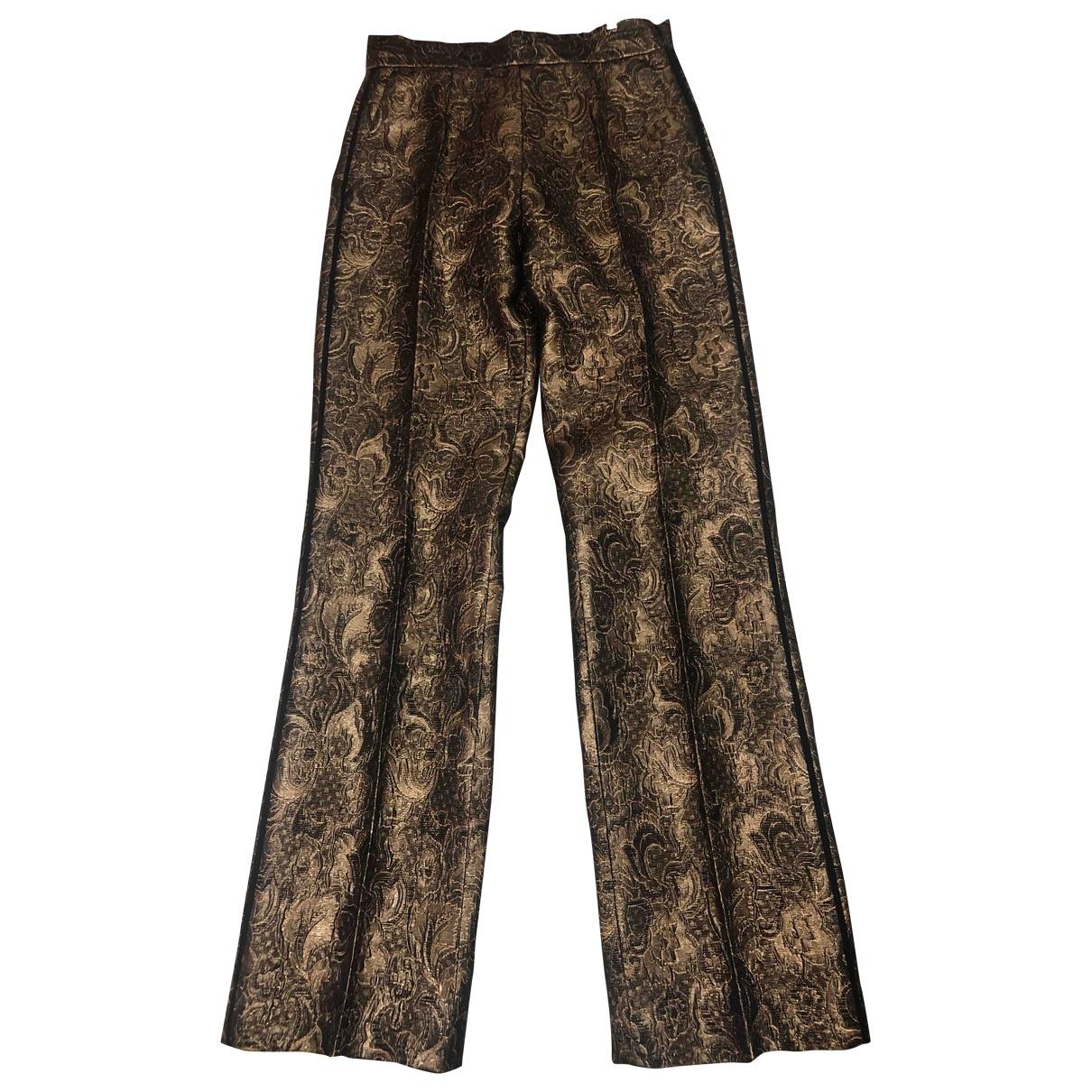 Sandro \N Gold Trousers for Women 36 FR