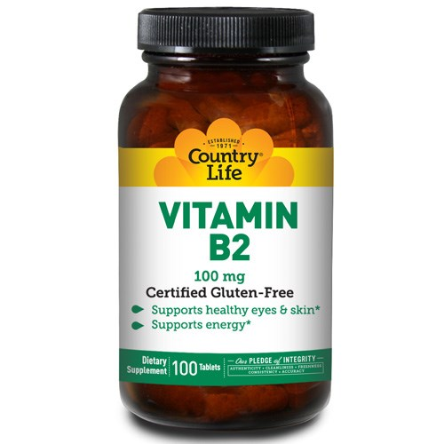 Vitamin B-2 100 Tabs by Country Life