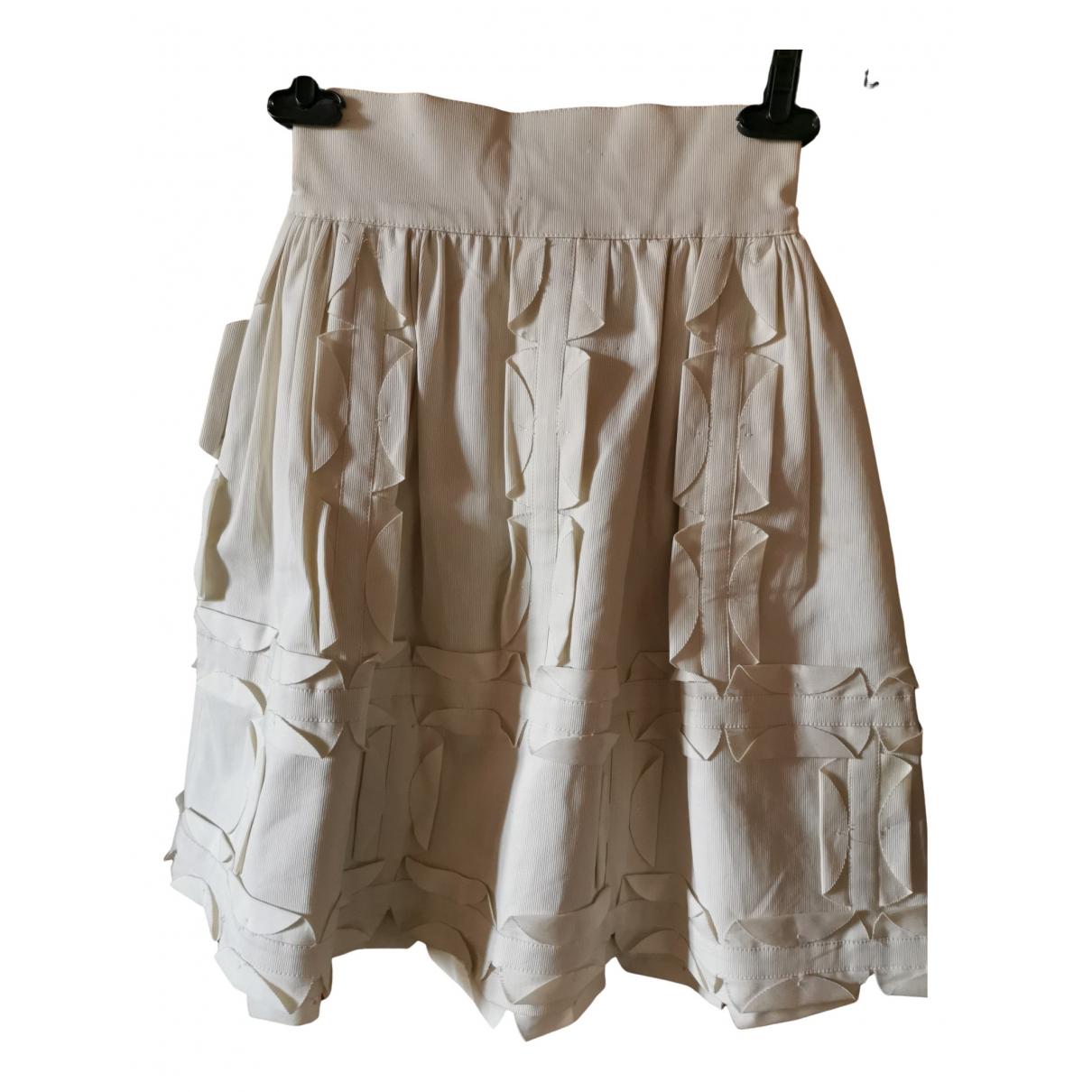Fendi \N White Cotton skirt for Women 40 IT