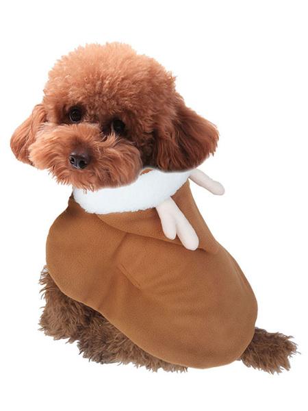 Milanoo Dog Christmas Costume Cloak Cat Brown Pet Clothing