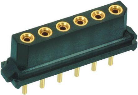 HARWIN 2mm Pitch 17 Way 1 Row Straight PCB Socket, Through Hole, Solder Termination