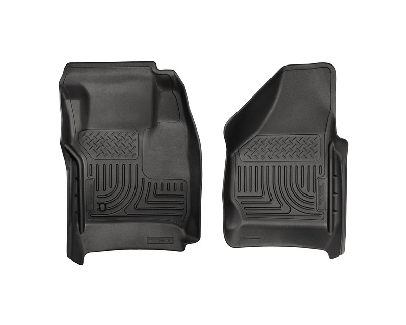 Husky Floor Liners Front 08-10 Ford F-Series WeatherBeater-Black