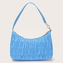 Ruched Baguette Bag