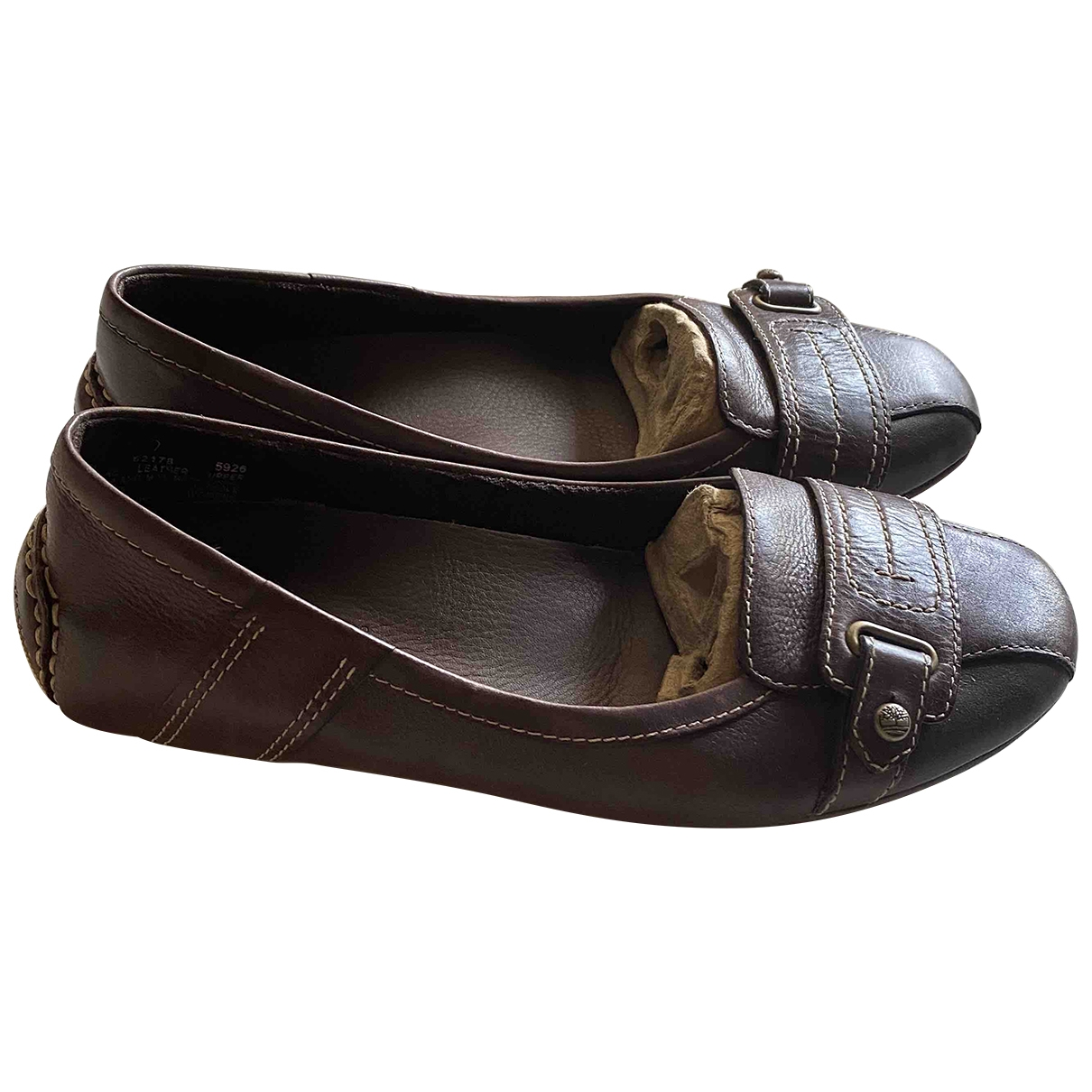 Timberland \N Brown Leather Flats for Women 37 EU