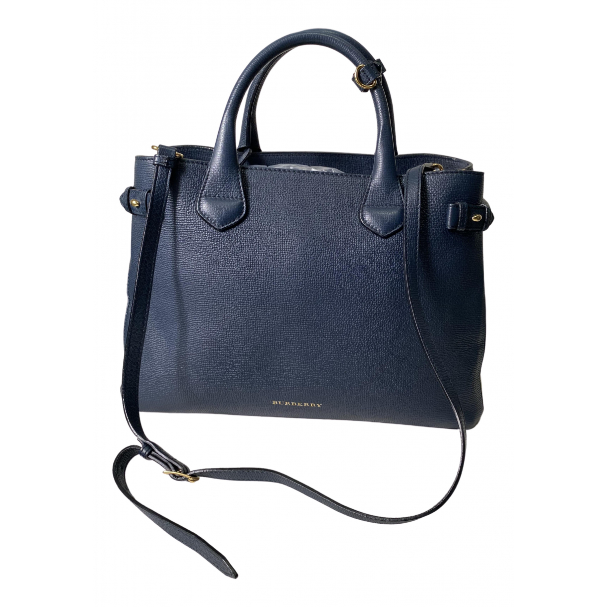 Burberry The Banner  Navy Leather handbag for Women \N