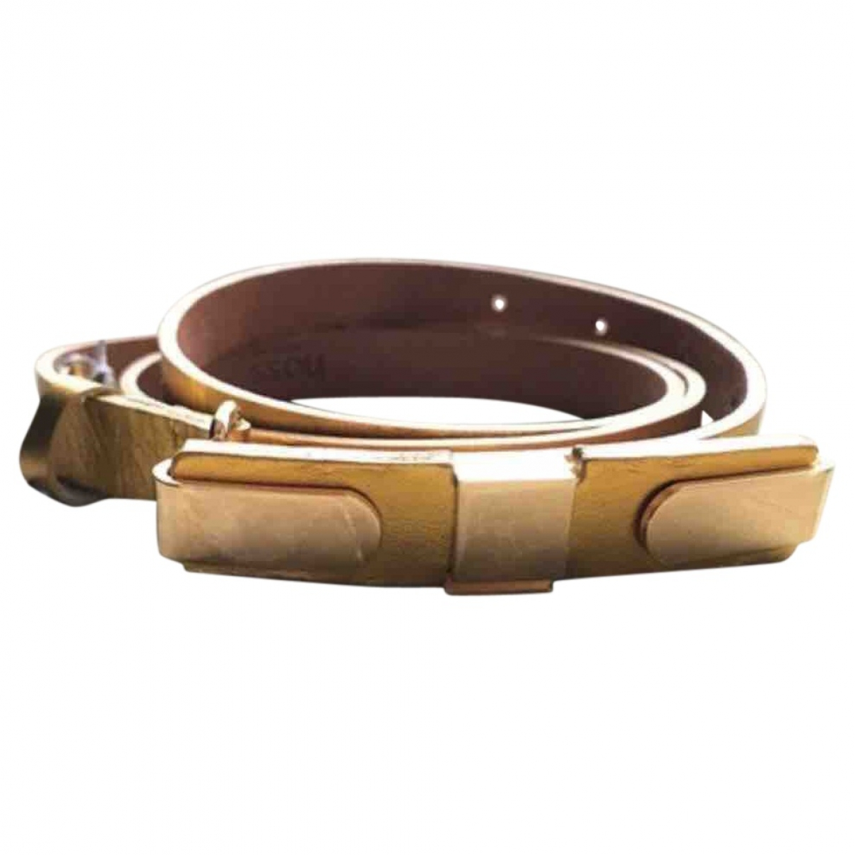Hoss Intropia \N Gold Leather belt for Women M International