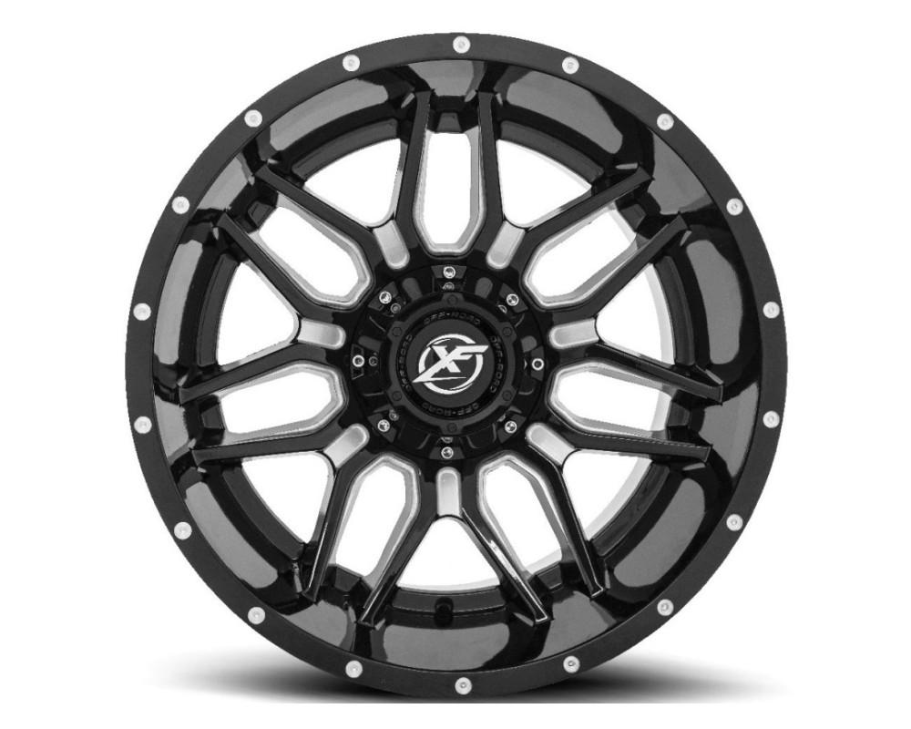 XF Off-Road XF-222 Wheel 20x12 5x139.7|5x150 -44mm Gloss Black Milled