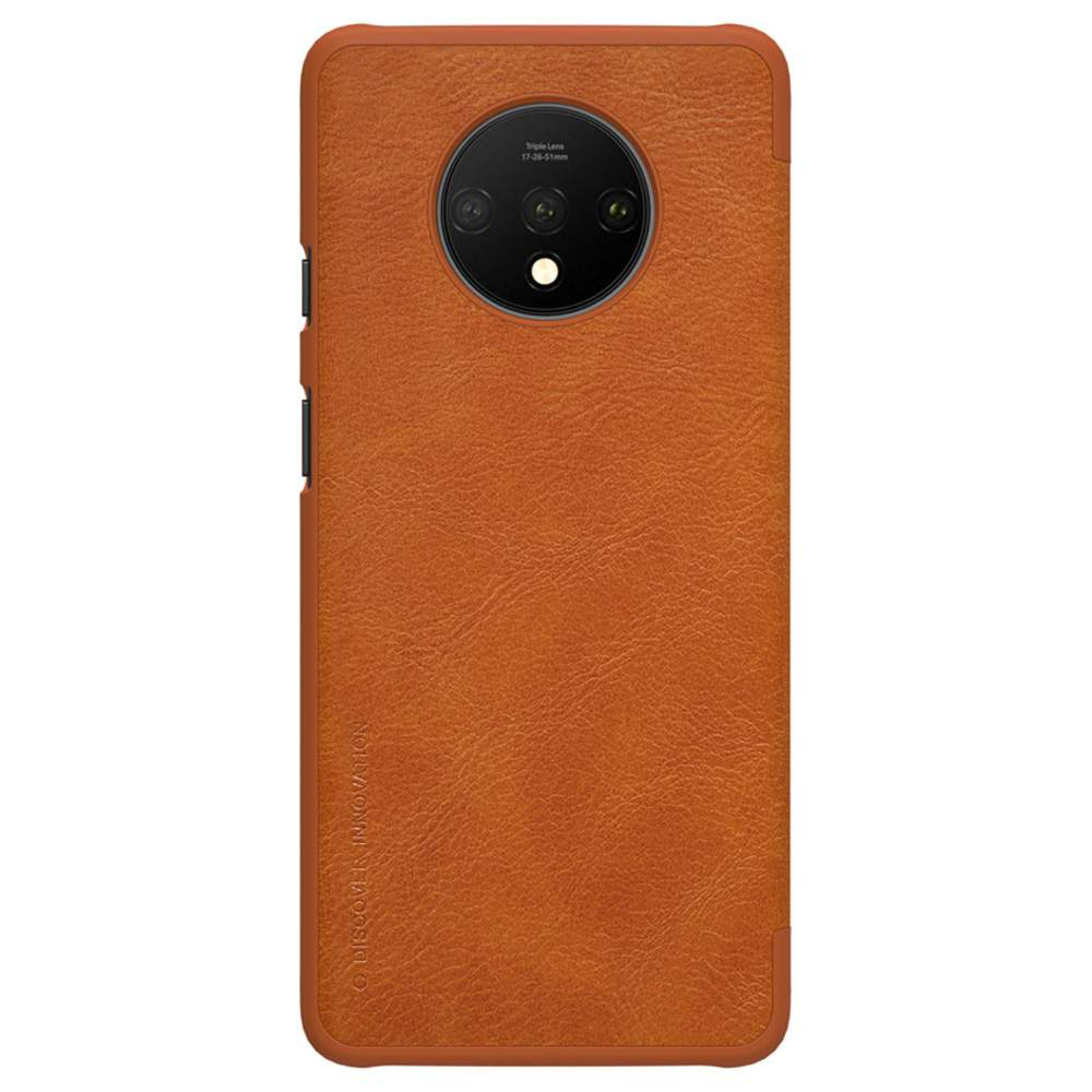 NILLKIN Protective Leather Phone Case For Oneplus 7T Smartphone - Brown