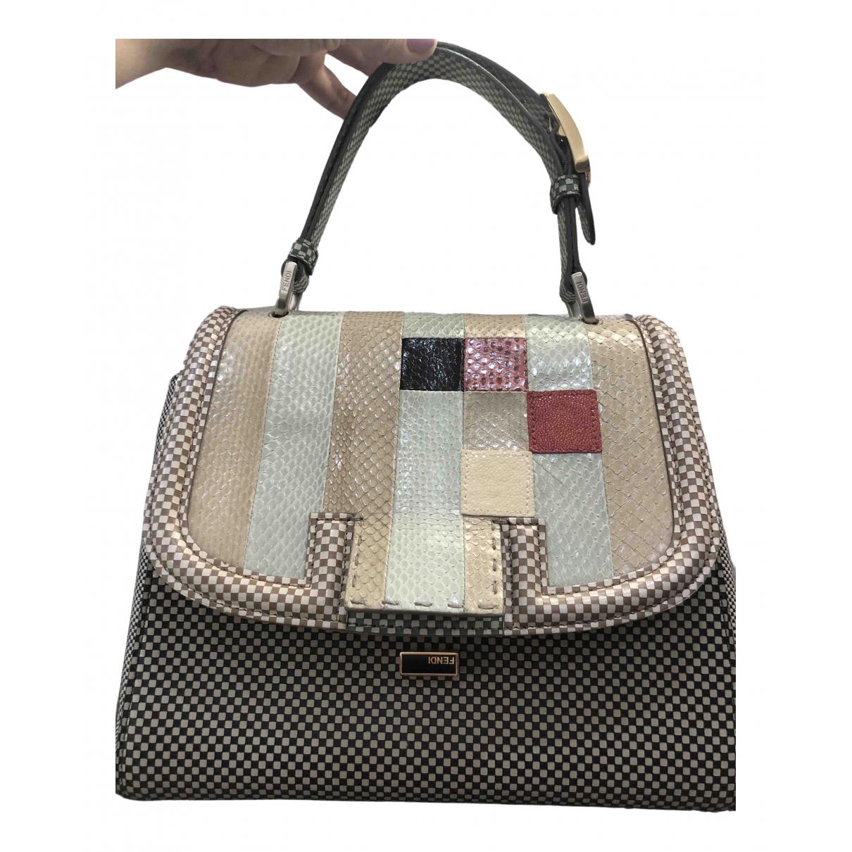 Fendi \N Anthracite Water snake handbag for Women \N