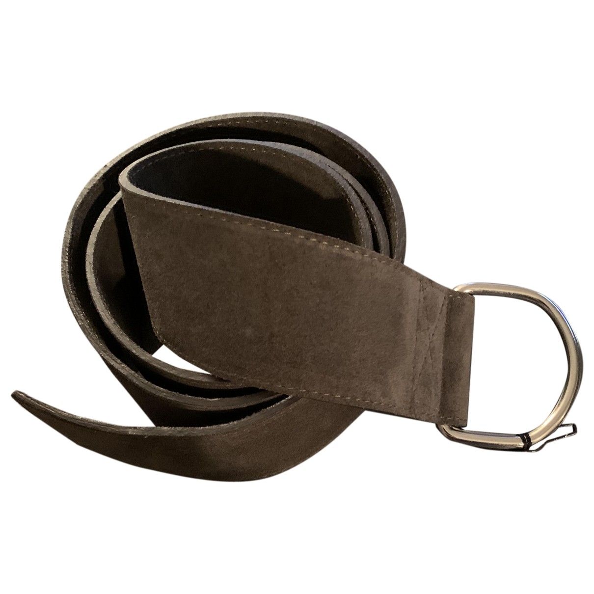 Hache \N Black Leather belt for Women L International