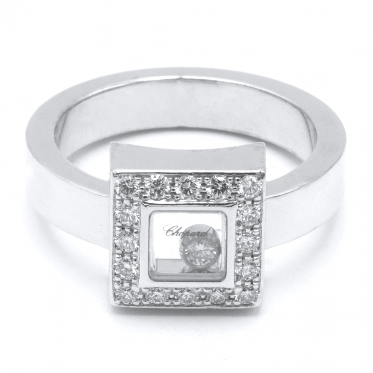 Chopard Happy Diamonds Silver White gold ring for Women 54 MM
