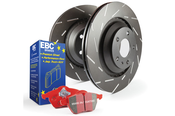 EBC Brakes S4KR1129 S4KR Kit Number REAR Disc Brake Pad and Rotor Kit DP31621/2C+USR7162 Cadillac Seville Rear 1998-2004