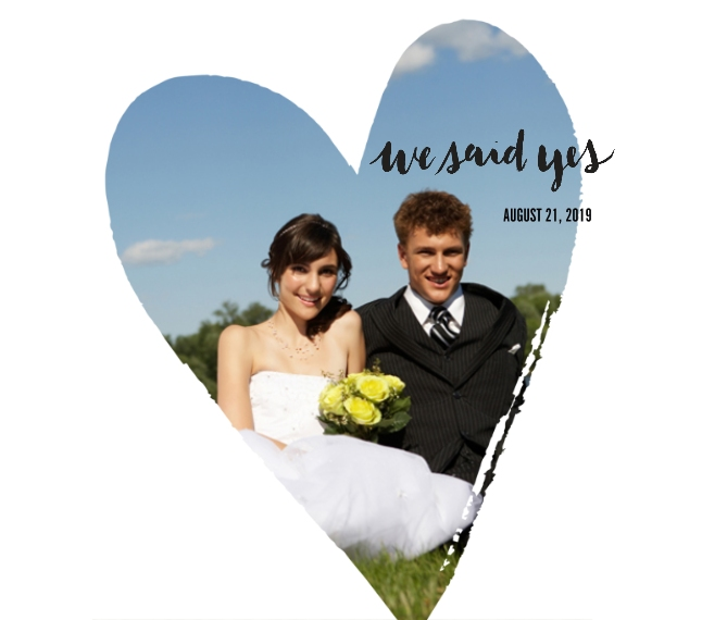 Wedding Framed Canvas Print, Black, 8x10, Home Décor -We Said Yes